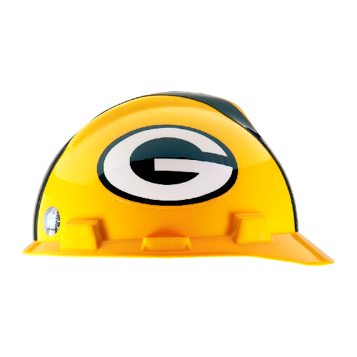 MSA V-Gard Cap Style NFL Team Hard Hat - Green Bay Packers - #818395