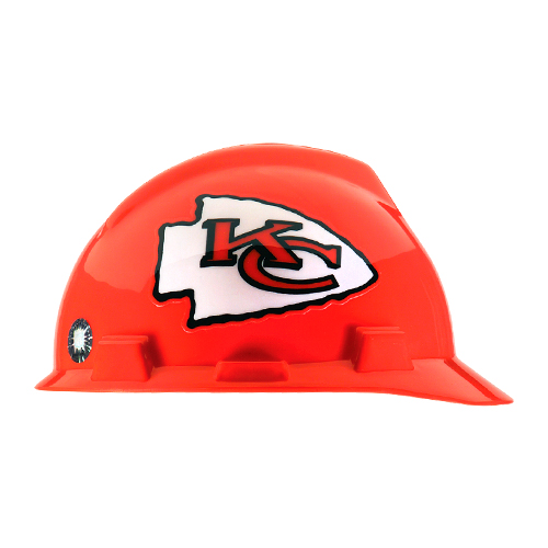 MSA V-Gard Cap Style NFL Team Hard Hat - Kansas City Chiefs - #818398