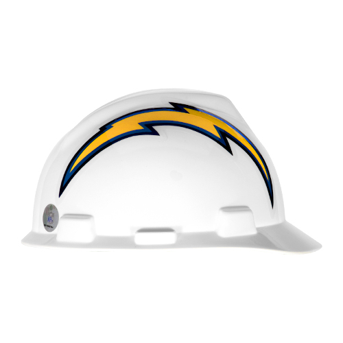 MSA V-Gard Cap Style NFL Team Hard Hat - Los Angeles Chargers - #818408