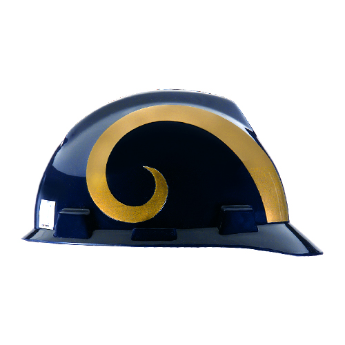 MSA V-Gard Cap Style NFL Team Hard Hat - Los Angeles Rams - #818411