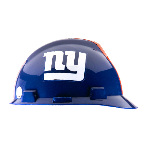 MSA V-Gard Cap Style NFL Team Hard Hat - New York Giants - #818403