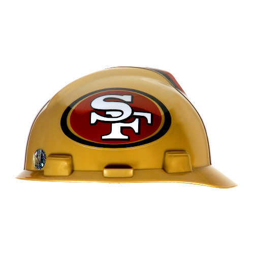 MSA V-Gard Cap Style NFL Team Hard Hat - San Francisco 49ers - #818409
