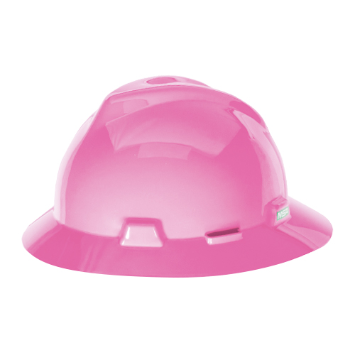 MSA V-Gard Full Brim Hard Hat - Hot Pink - #10156373