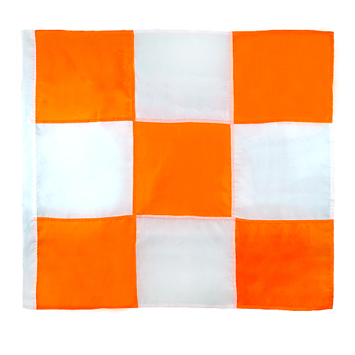 "Mutual Orange & White Airport Flag - 36"" x 36"""