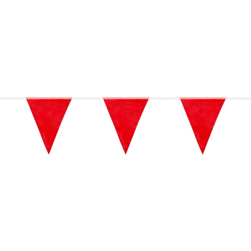 Mutual Red Pennant Flags - 60 ft Roll