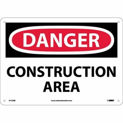 "National Marker Safety Sign - ""Danger Construction Area"""
