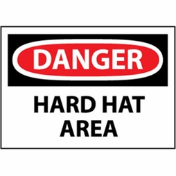 "National Marker Safety Sign - ""Danger Hard Hat Area"""