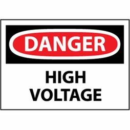 "National Marker Safety Sign - ""Danger High Voltage"""
