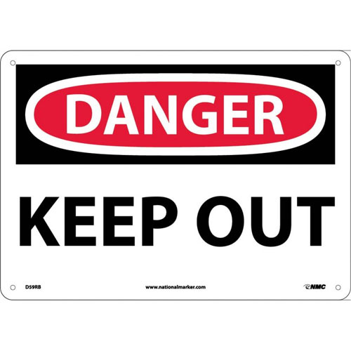 "National Marker Safety Sign - ""Danger Keep Out"""
