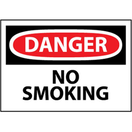 "National Marker Safety Sign - ""Danger No Smoking"""