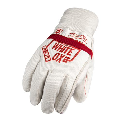 North Star White Ox Glove w/ Elastic Band
