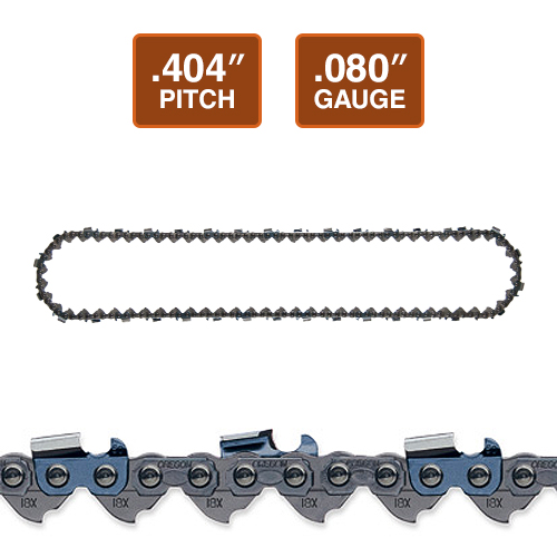 "Oregon 18HX Harvester Chain Loop | .404"" Pitch 