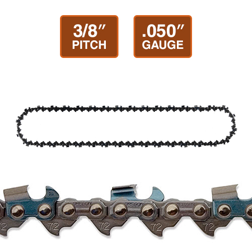 "Oregon 72LGX 3/8"" Super Guard Chainsaw Chain 