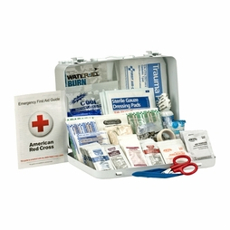 First Aid Only Metal Weatherproof 25 Person First Aid Kit