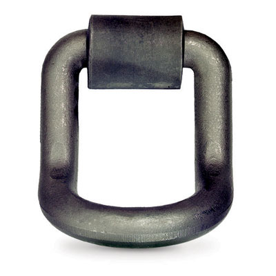"""PCC 1"""" Forged Long Bent D-Ring & Weld-on Clip - 15600 lbs WLL"""