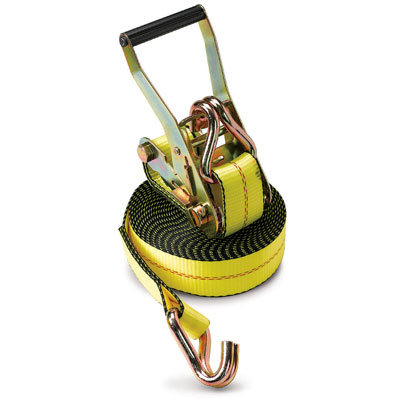 """2"""" x 27 ft Wire Hook Ratchet Strap - 3335 lbs WLL"""