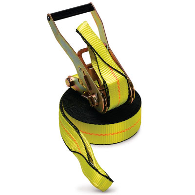 "PCC 2"" x 30 ft Ratchet Strap - Sewn Loops - 3335 lbs WLL"