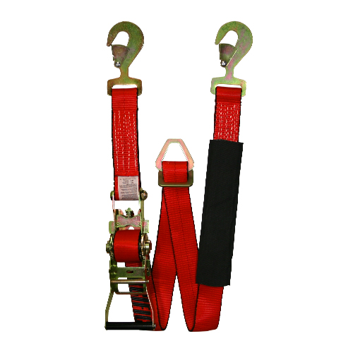 "PCC 2"" x 8 ft Red Adjustable Axle Strap - 2000 lbs WLL"