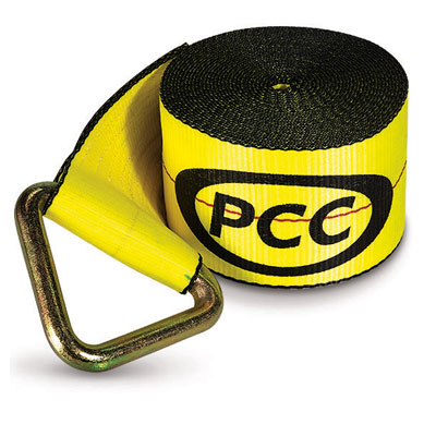 "PCC 4"" x 30 ft Winch Strap - V-Ring - 5500 lbs WLL"