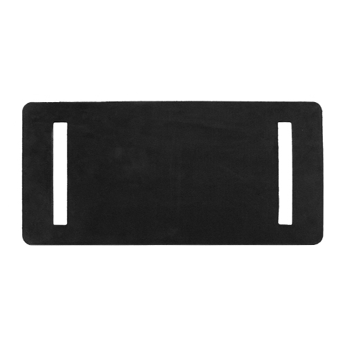 "PCC Rubber Slotted Wear Pad - 6"" x 12"""