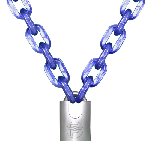 "Peerless 7/16"" (11mm) Hex Security Chain Kit - 8 ft Chain & Padlock"