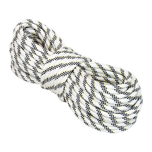 """Petzl 1/2"""" x 150 ft White Vector Static Master Kernmantle Rappelling Rope - 9000 lbs Breaking Strength"""
