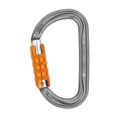 Petzl Am'D Aluminum Carabiner - Triple-Locking - #M34A TL