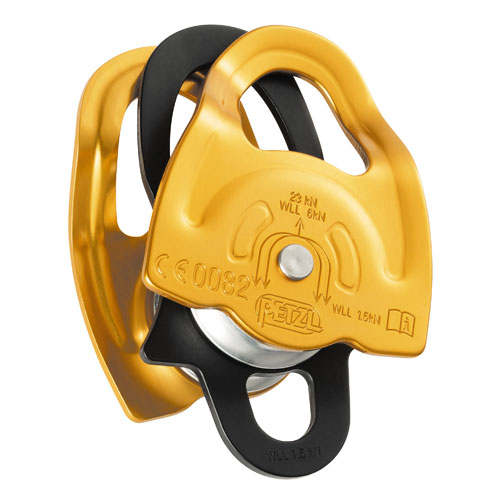 "Petzl Gemini Double Sheave Micro Pulley - 7/16"" Rope - #P66A"