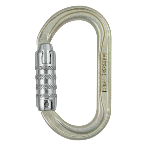 Petzl Oxan Oval Steel Carabiner - Triple-Locking - #M72A TLA