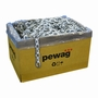 """Pewag 1/2"""" (12mm) Galvanized Square Security Chain - #56847"""