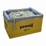 "Pewag 3/8"" (10mm) Galvanized Square Security Chain - #13620"