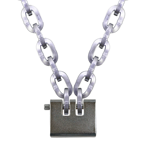 """Pewag 3/8"""" (10mm) Security Chain Kit - 19 ft Chain & Laclede Padlock"""