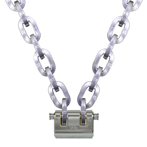"Pewag 3/8"" (10mm) Security Chain Kit - 2 ft Chain & Viro Padlock"