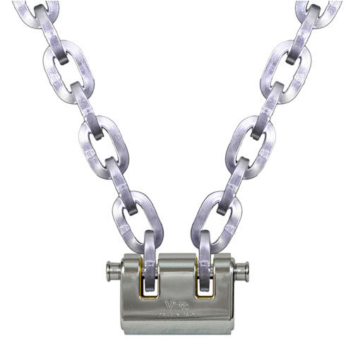 "Pewag 3/8"" (10mm) Security Chain Kit - 8 ft Chain & Viro Padlock"