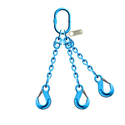 """Pewag 3/8"""" x 10 ft Type TOS 3-Leg Grade 120 Chain Sling - 27500 lbs WLL"""