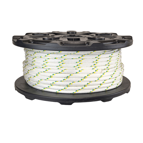 """Portable Winch 1/2"""" Double Braid Polyester Rope - 7275 lbs Breaking Strength - #PCA-1213M"""