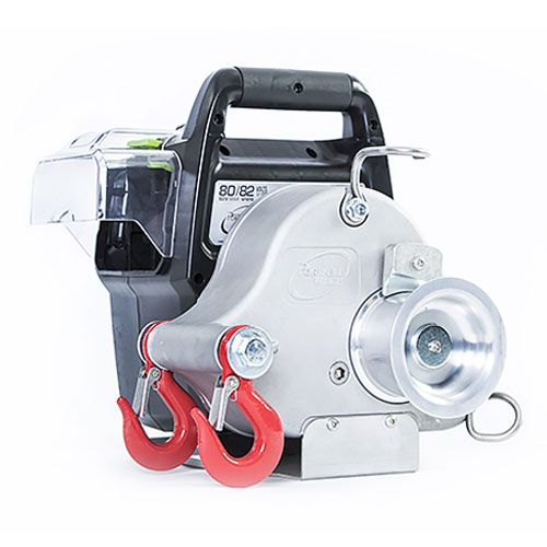 Portable Winch Battery Powered Capstan Winch Kit w/ Batteries - 2200 lbs Max Pull - #PCW3000-LI-BK