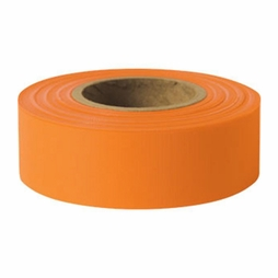 "Presco 1-3/16"" x 150 ft Orange Glo Taffeta Roll Flagging"
