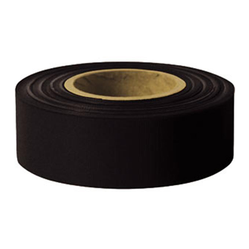 "Presco 1-3/16"" x 300 ft Black Taffeta Roll Flagging"