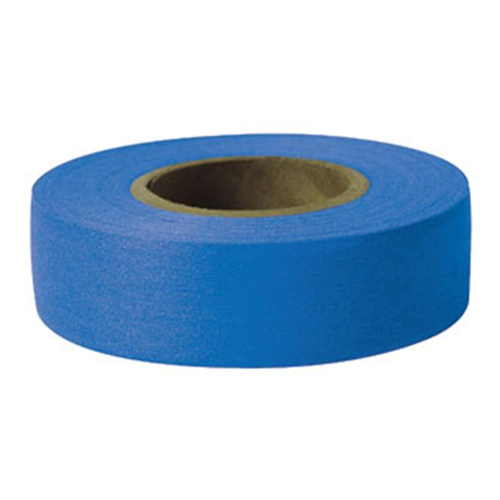 "Presco 1-3/16"" x 300 ft Blue Taffeta Roll Flagging"