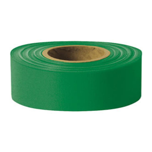 "Presco 1-3/16"" x 300 ft Green Taffeta Roll Flagging"