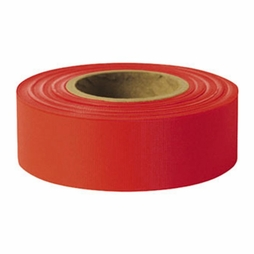 "Presco 1-3/16"" x 300 ft Red Taffeta Roll Flagging"