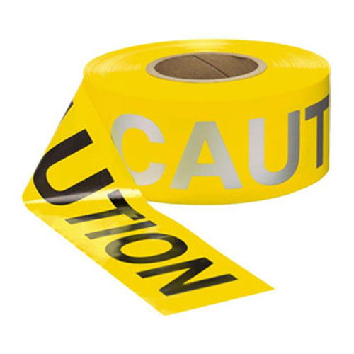 "Presco 3"" x 1000 ft Day / Night Caution Tape - Full Box"