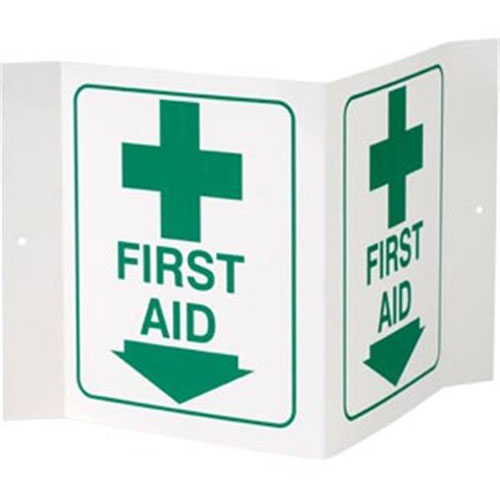 """Safety Sign - """"First Aid"""" - 3-D"""