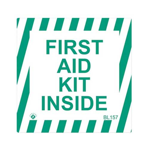 """Safety Sticker - """"First Aid Kit Inside"""""""