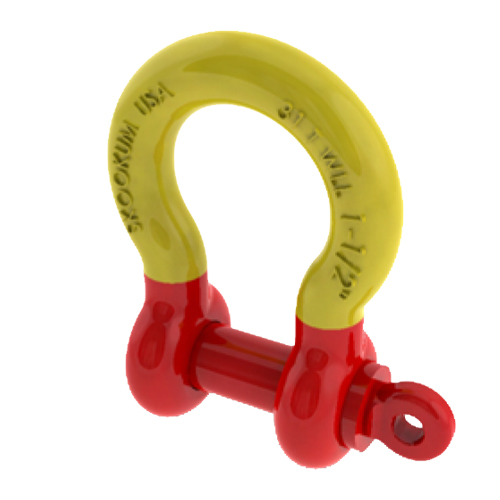 "Skookum 1-1/4"" 263 Alloy Screw Pin Anchor Shackle - 21 Ton WLL"