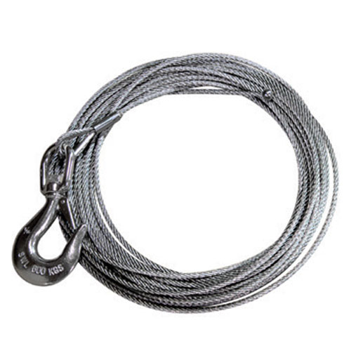 "Thern 1/4"" x 45 ft Winch Cable - Stainless - 6400 lbs Breaking Strength - #WS25-45NE"