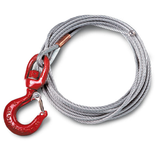 """Thern 1/4"""" x 75 ft Winch Cable - Galvanized - 7000 lbs Breaking Strength - #WA25-75NS"""