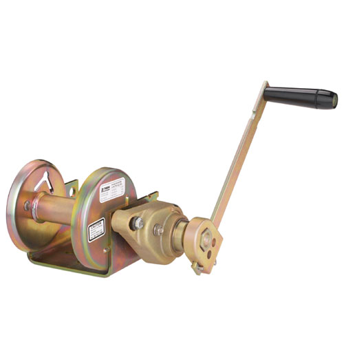 Thern Spur Gear Hand Winch w/ Brake - 1000 lbs Lifting Capacity - #M4032PB