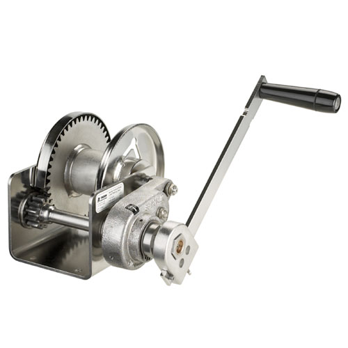 Thern Spur Gear Hand Winch w/ Brake - 1000 lbs Lifting Capacity - Stainless Steel - #M4042PBSS